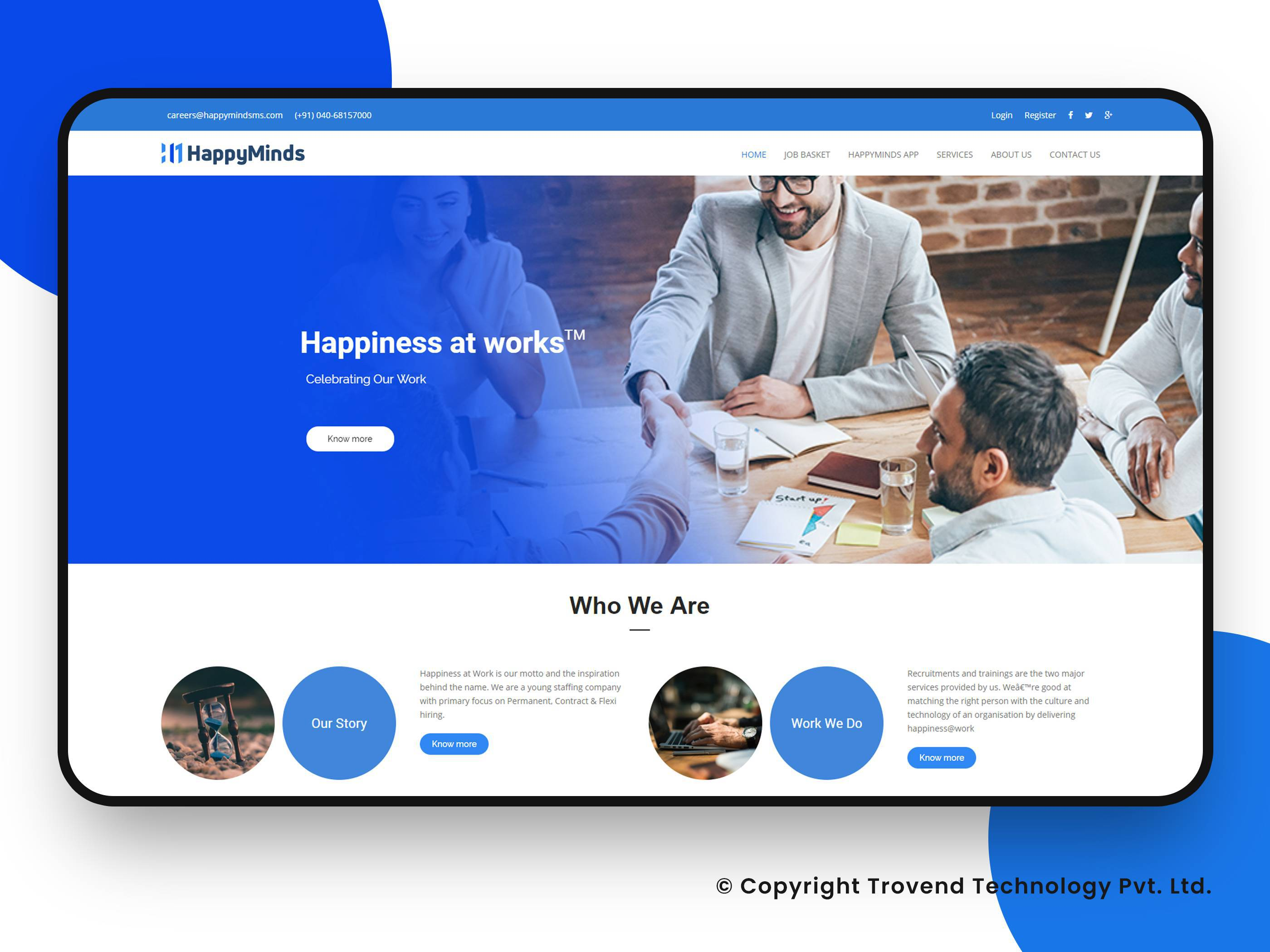 Happyminds Website