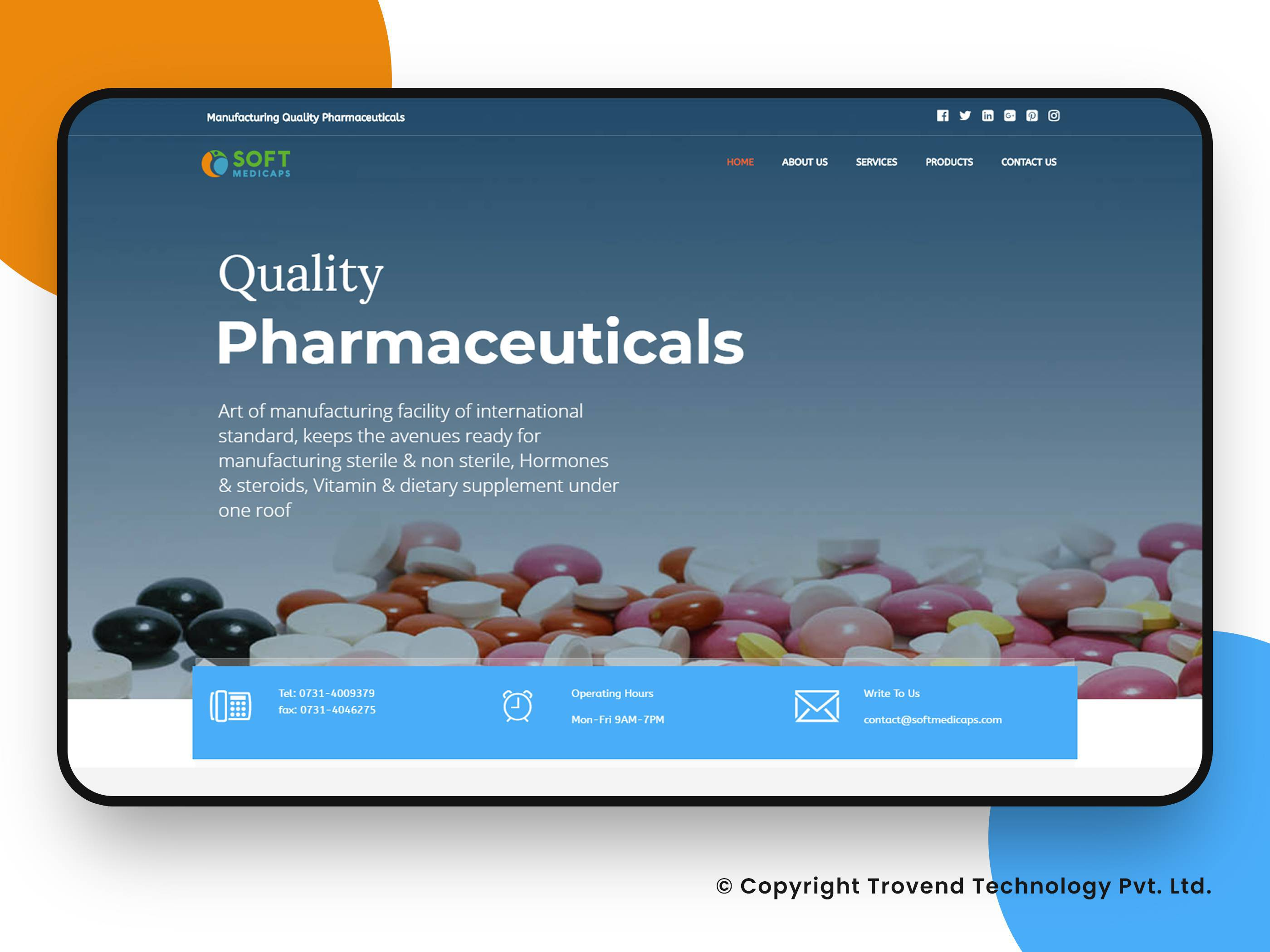 softmedicaps Website